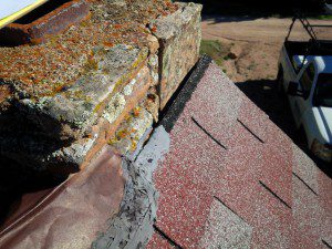 Cracked sealant around chimney